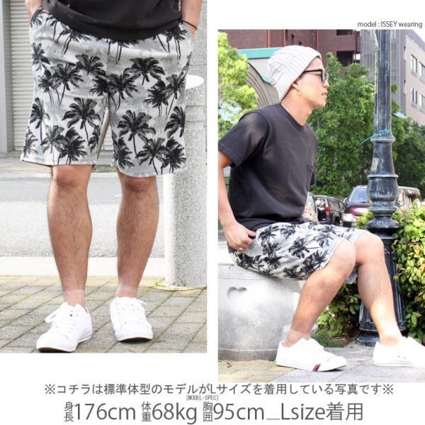 ショートパンツ 大きいサイズ ビッグサイズ 3L 4L XXL XXXL メンズ ハーフパンツ ショーツ 短パン 半ズボン イージーパンツ ボーダー 総柄 ネイティブ柄|owl|14