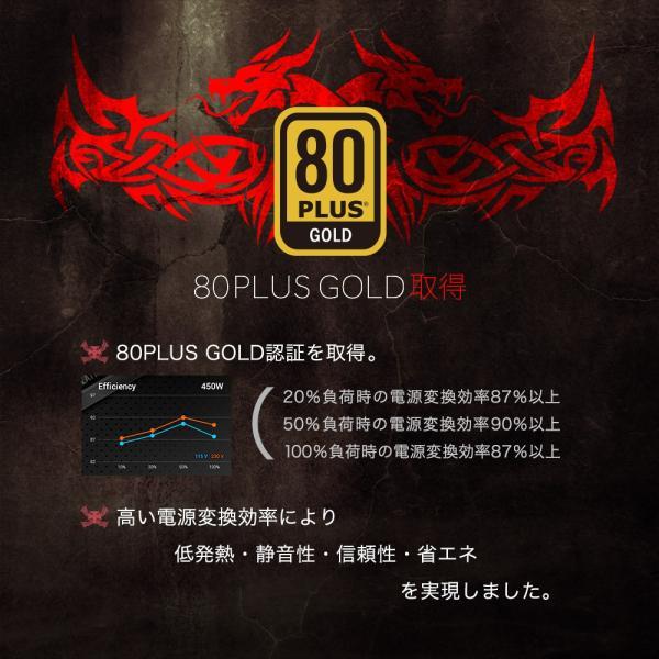 PC電源 850W ATX電源 80PLUS GOLD取得 パソコン用 ゴールド 認証 PLUG-IN 着脱式 owltech 02