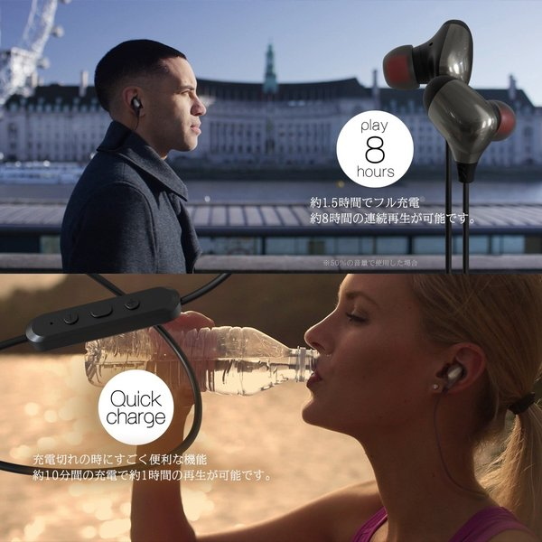 ワイヤレスイヤホン Bluetooth 4.0 スマホ アンドロイド iPhone iPad Android タブレット 生活防水 宅C|owltech|05