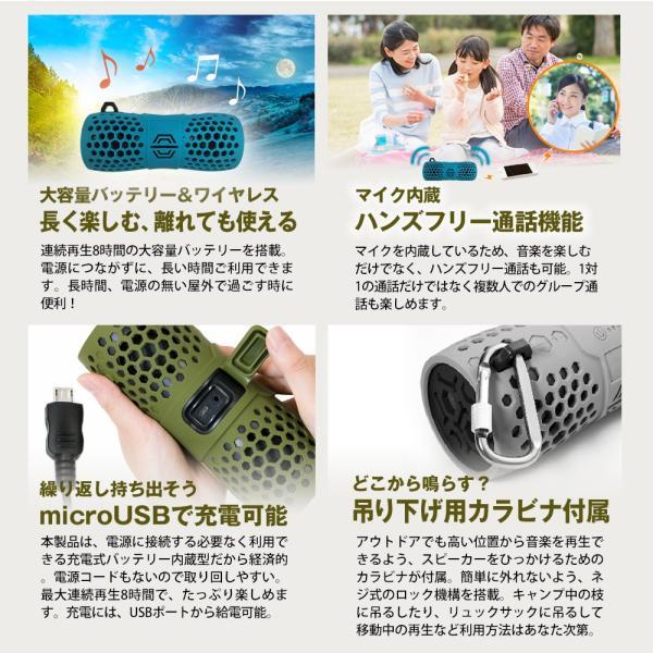ワイヤレススピーカー Bluetooth IP66 防水 防塵 水に浮かぶ ポータブル ハンズフリー通話 宅配便 増税前スペシャルセール|owltech|08