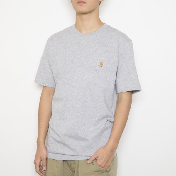 カーハート Tシャツ WORKWEAR POCKET S/S T-SHIRT ワークウェア ポケット ショートスリーブ ティーシャツ メンズ 男性用 K87 HEATHER GRAY HGY CARHARTT