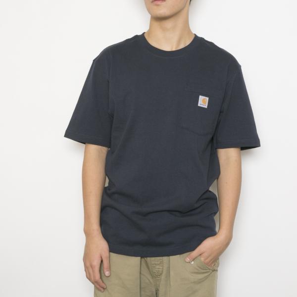 カーハート Tシャツ WORKWEAR POCKET S/S T-SHIRT ワークウェア ポケット ショートスリーブ ティーシャツ メンズ 男性用 K87 NAVY NVY CARHARTT