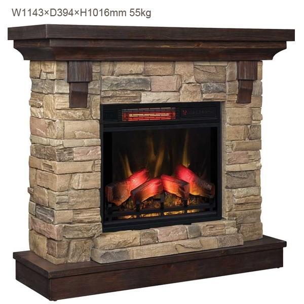 電気式暖炉ユージーン(3Dパワーヒート) /送料無料/LLOYD GRANDE/ロイドグランデ/暖炉 温風ヒーター 暖炉型ヒーター 暖房器具 oxford-c