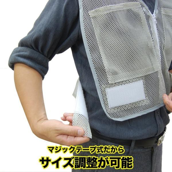 熱中症対策グッズ クールベスト アイスベスト (保冷剤を入れられるポケットが付いたインナーベスト)|oyakudachi-paxasian|05