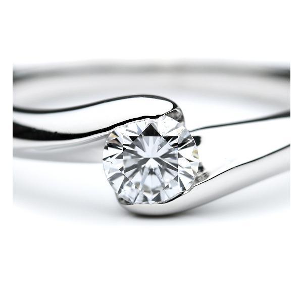 指輪 一粒ダイヤモンド ダイヤ0.331/0.03ct Pt900/プラチナ シンプル エレガント ダイヤリング 美品