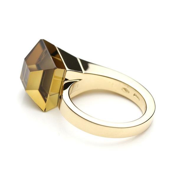 グッチ GUCCI 指輪 キオドカクテル クォーツリング K18/イエローゴールド ゴールドリング 美品
