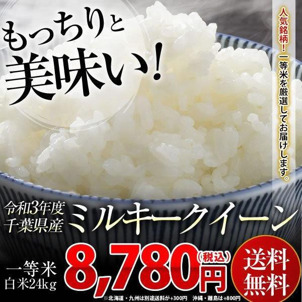 米 24kg(8kg×3袋)  白米 新米 令和3年 千葉県産 ミルキークイーン お米  送料無料 【別途送料加算地域あり】