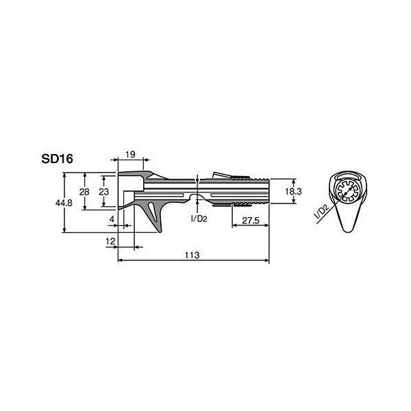 富士工業(Fuji工業) リールシート ACS-SD16(S)