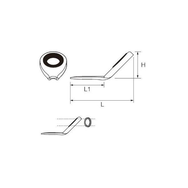 ポイント2倍 富士工業(Fuji工業) PLDBSG 5 超軽量傾斜穂先ガイド (Pカラーフレーム+SiCリング)/クリックポスト発送可能