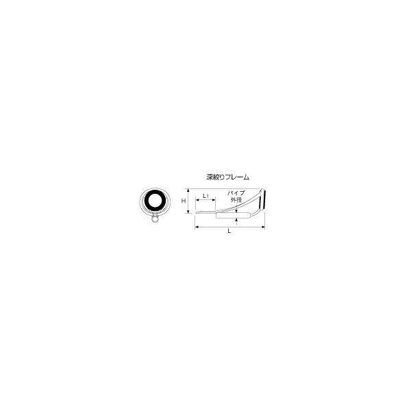ポイント2倍 富士工業(Fuji工業) MNトップガイド T-MNTT5F トルザイトリングF型 パイプサイズ1.0-2.4mm 傾斜フレームトップガイド /クリックポスト発送可能