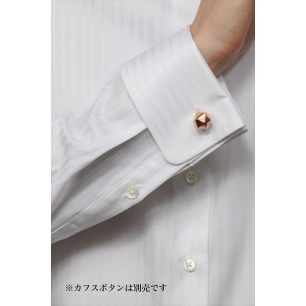 レディースシャツ ワイシャツ ブラウス ビジネス 長袖  白シャツ ダブルカフス ワイドカラーシャツ プレミアムコットン 日本製 トップス 3L 大きいサイズ|ozie|07