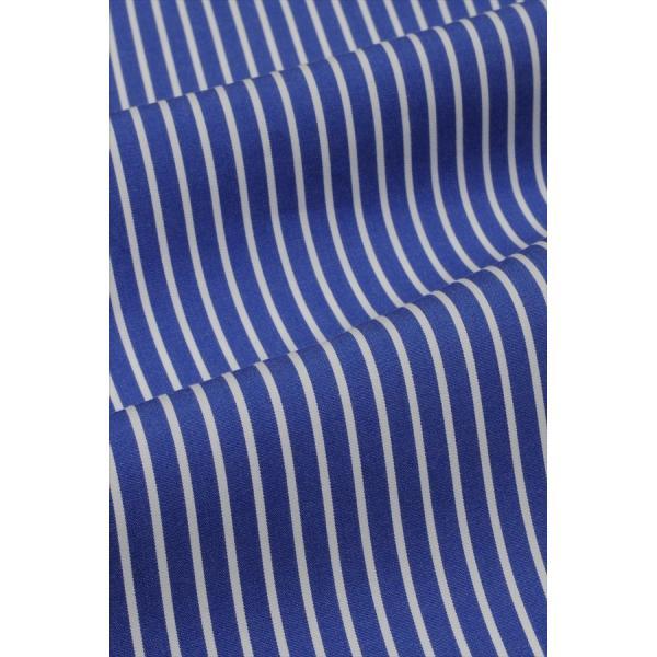 レディースシャツ ワイシャツ ブラウス ビジネス 長袖 ダブルカフス ワイドカラーシャツ ブロード 日本製 トップス 3L 大きいサイズ ブルー 青|ozie|08