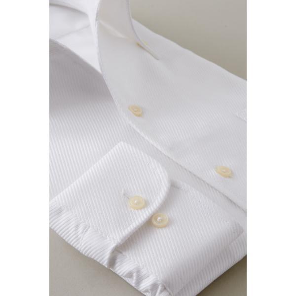 イタリアンカラー シャツ メンズ ワイシャツ ボタンダウン 長袖 ホワイト 白 スリム プレミアムコットン 形態安定 Yシャツ ビジネスシャツ おしゃれ|ozie|05