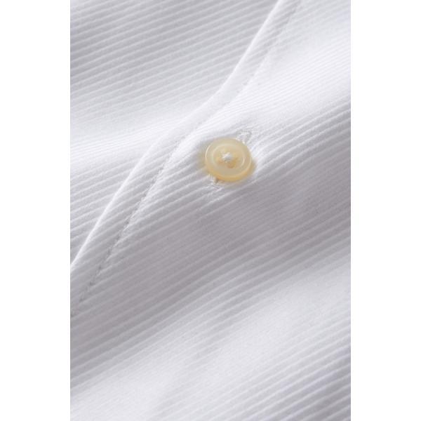 イタリアンカラー シャツ メンズ ワイシャツ ボタンダウン 長袖 ホワイト 白 スリム プレミアムコットン 形態安定 Yシャツ ビジネスシャツ おしゃれ|ozie|06