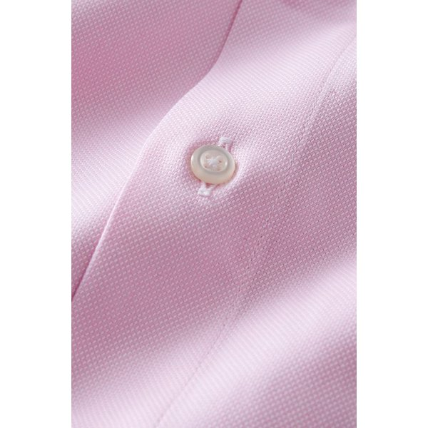 スタンドカラーシャツ メンズ 長袖 綿100% ワイシャツ ドレスシャツ レギュラーフィット オックスフォード Yシャツ 無地 大きいサイズ おしゃれ 日本製 ピンク|ozie|06