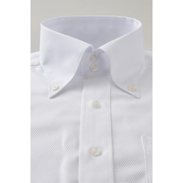 ワイシャツ メンズ 長袖 白シャツ スリム ドゥエボットーニ ボタンダウン クレリックシャツ 綿100% Yシャツ ビジネスシャツ ドレスシャツ おしゃれ ホワイト|ozie|02