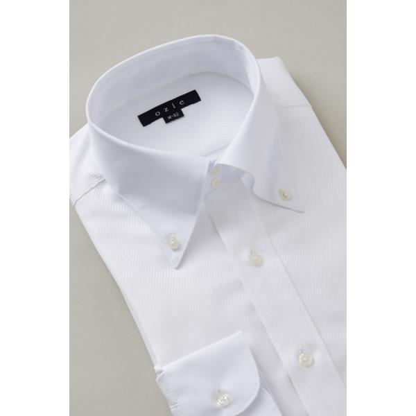 ワイシャツ メンズ 長袖 白シャツ スリム ドゥエボットーニ ボタンダウン クレリックシャツ 綿100% Yシャツ ビジネスシャツ ドレスシャツ おしゃれ ホワイト|ozie|04