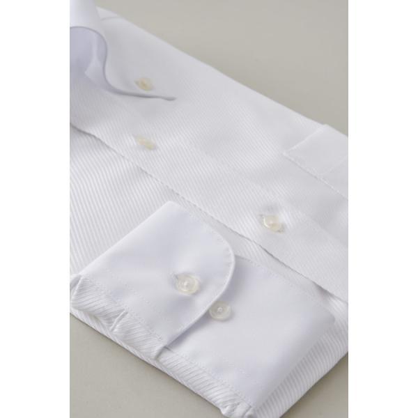 ワイシャツ メンズ 長袖 白シャツ スリム ドゥエボットーニ ボタンダウン クレリックシャツ 綿100% Yシャツ ビジネスシャツ ドレスシャツ おしゃれ ホワイト|ozie|05