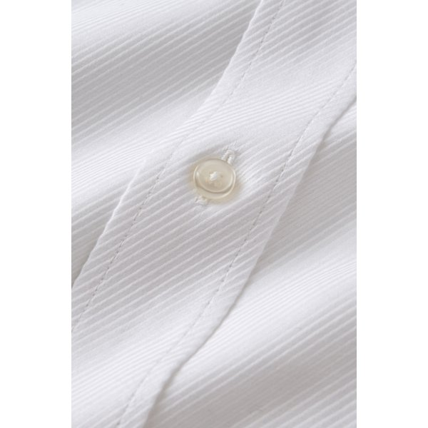 ワイシャツ メンズ 長袖 白シャツ スリム ドゥエボットーニ ボタンダウン クレリックシャツ 綿100% Yシャツ ビジネスシャツ ドレスシャツ おしゃれ ホワイト|ozie|06