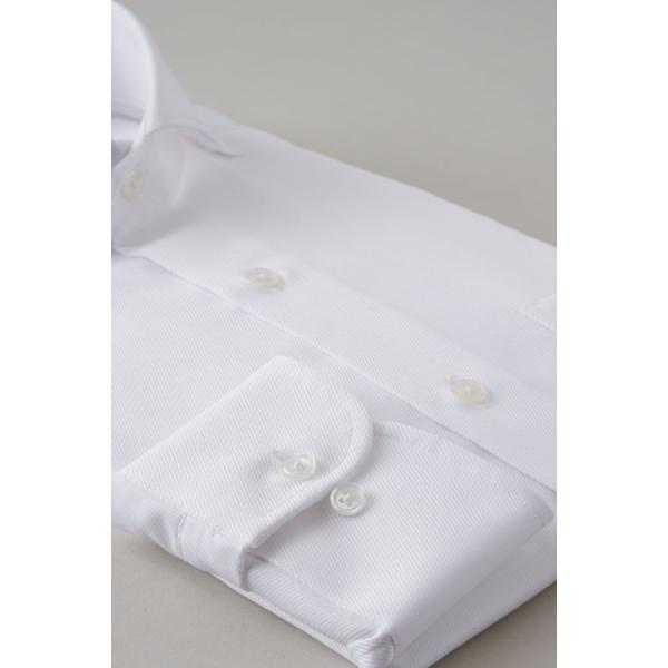 ホリゾンタルカラー ワイシャツ クールマックス スーパードライ スリム ブルー 青 カッタウェイ メンズ 長袖 形態安定 ドレスシャツ ビジネスシャツ おしゃれ|ozie|05