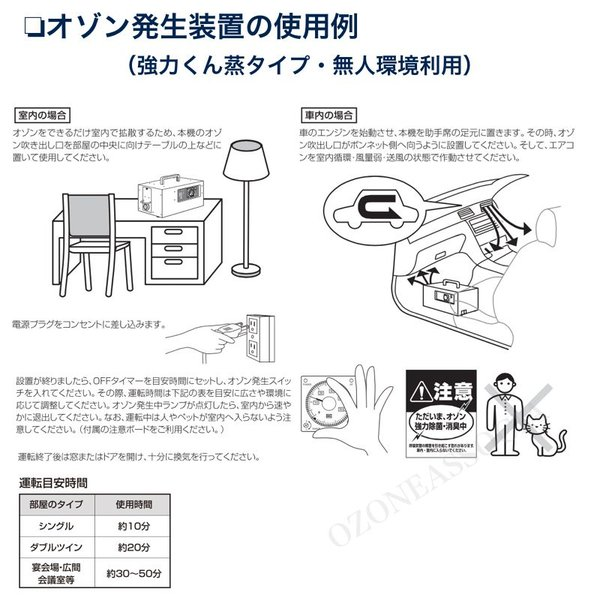 オゾン脱臭器 剛腕500S GWN-500Sホテル向けオゾン消臭器|ozoneassocia|05