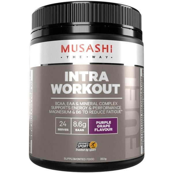 MUSASHI(ムサシ)INTRA WORKOUT 必須アミノ酸 & BCAA パウダー350g / グレープ味 海外直送品