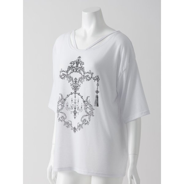 RozenプリントTシャツ ozzonjapan