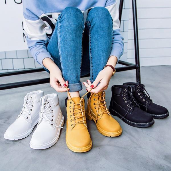 マーティンブーツ レディースシューズ  ラウンド靴  マウンテン  カジュアルシューズ 人気アイテム     快適 履きやすい通学