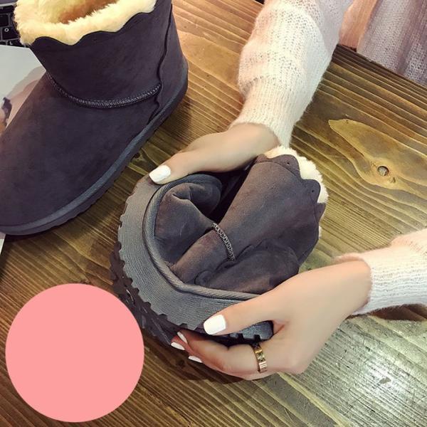 ショートブーツ ムートンブーツ スエード ムートン ブーツ スエード ファー ブーツ クッションショート ブーツ  防寒  秋冬