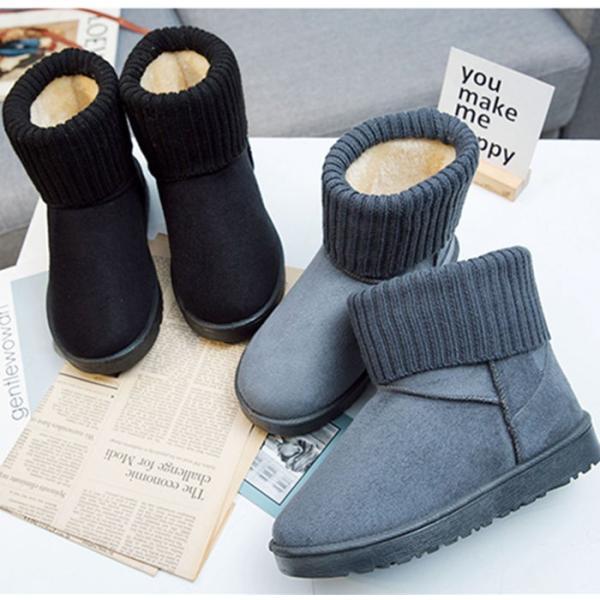 ショート ブーツ  ブーツ スエード ショートブーツ ムートンブーツ スエード ブーツ ファー ブーツ クッション  防寒  秋冬