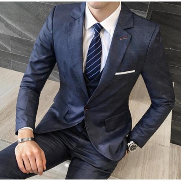 3390c556f506c ... 紳士スーツセット メンズスーツ 3点セット スリムスーツビジネススーツ セットアップ フォーマルスーツ リクルート ...