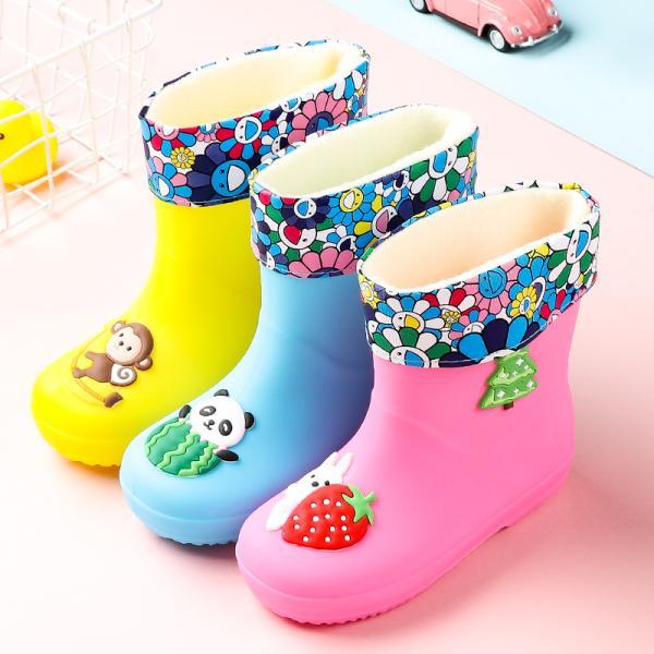 レインブーツ長靴ショートロングキッズ雪遊び夏梅雨歩きやすい雨具裏起毛雨靴防水防寒軽い軽量スノーブーツレインシューズ通勤大きいサイ