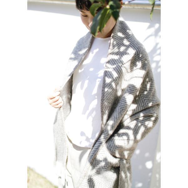 LAPAN KANKURIT ラプアンカンクリ ポケットショール MARIA マリア グレーホワイト|p-comfit|05
