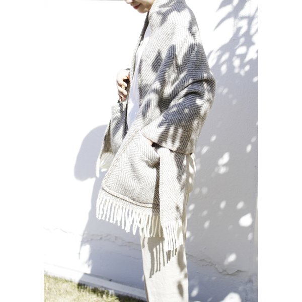 LAPAN KANKURIT ラプアンカンクリ ポケットショール MARIA マリア グレーホワイト|p-comfit|06