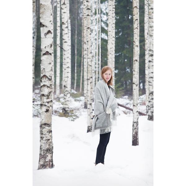 LAPAN KANKURIT ラプアンカンクリ ポケットショール MARIA マリア グレーホワイト|p-comfit|09