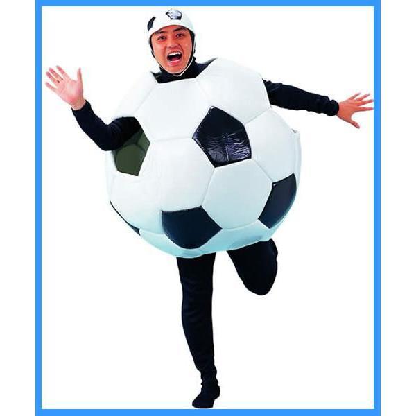 サッカーボールマン帽子付  [サッカー 衣装 コスプレ コスチューム 日本応援 イベント 仮装 ハロウィン]【A-9002_MJP01】|p-kaneko