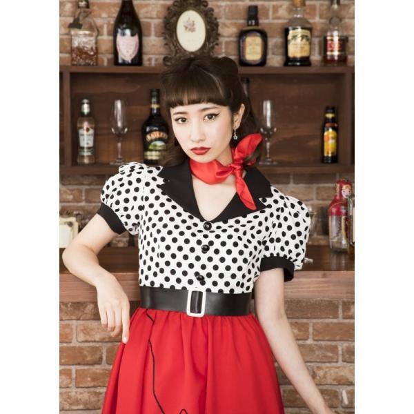 50年代 ファッション チェリー コスプレ ボンテージ コスチューム 衣装 ハロウィン 女性 衣装/ ヴィンテージ 50sロカビリー (880417) p-kaneko 09