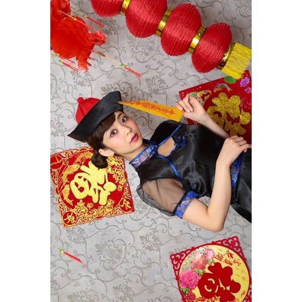 キョンシー コスプレ ロングスカート キョンシーガール 女性 衣装 ハロウィン コスプレ 女性用 大人 集団仮装/ エレガントキョンシー (_886372)|p-kaneko|15