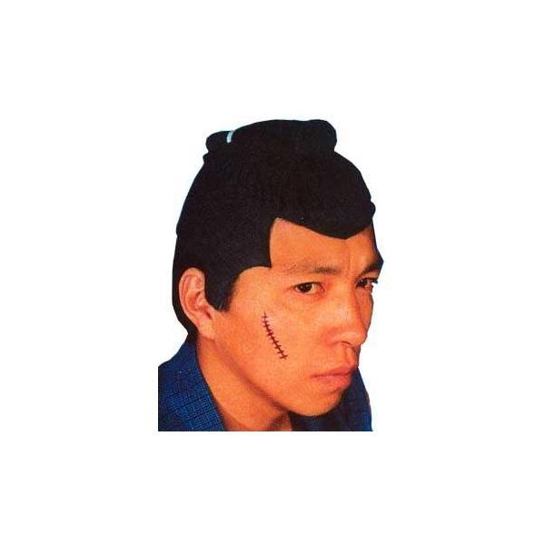 股旅カツラ 時代劇 仮装 旅ガラス カツラ コスプレ 舞台グッズ 小道具 演劇 コスプレグッズ 宴会芸 (C-0195_054345(022320))|p-kaneko
