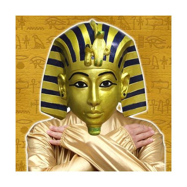ツタンカーメン マスク なりきりマスク エジプト ファラオ 黄金マスク ハロウィン コスプレ/ ツタンカー面 (C-0342_054598) p-kaneko