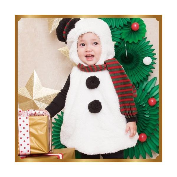 80e6a69edf9b7 マシュマロスノーマン Baby  雪だるま コスプレ 赤ちゃん スノーマン コスチューム クリスマス 衣装 コスチューム 仮装 baby  (874416 ...