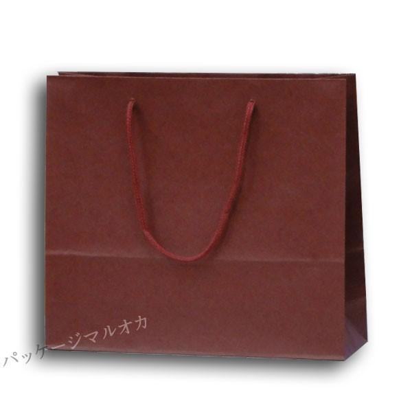 紙手提げ袋 カラーチャームバッグ 3才 エンジ 底ボール付 (巾330 マチ100 高さ290 アクリル紐) 200枚