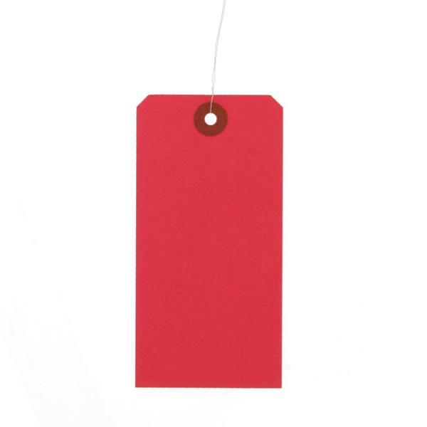 新 荷札 豆 30×60 赤 (縦60 横30 紙質色上質紙110g/m2) 1000枚