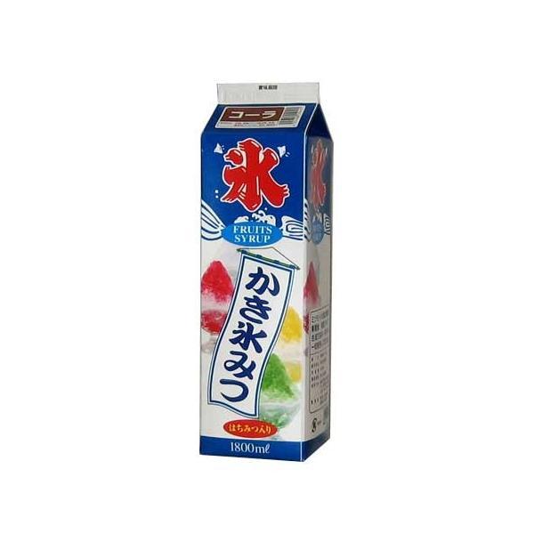 """""""業務用"""" かき氷シロップ 氷みつ コーラ はちみつ入り 氷蜜 (容量1800mL) 3個"""