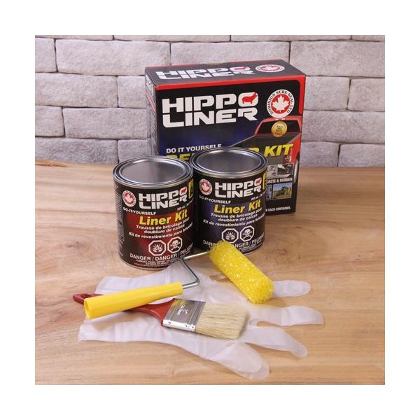荷台用防錆 HIPPO LINER(ヒッポーライナー) 1.7Lセット (黒) 塗料 p-recipe