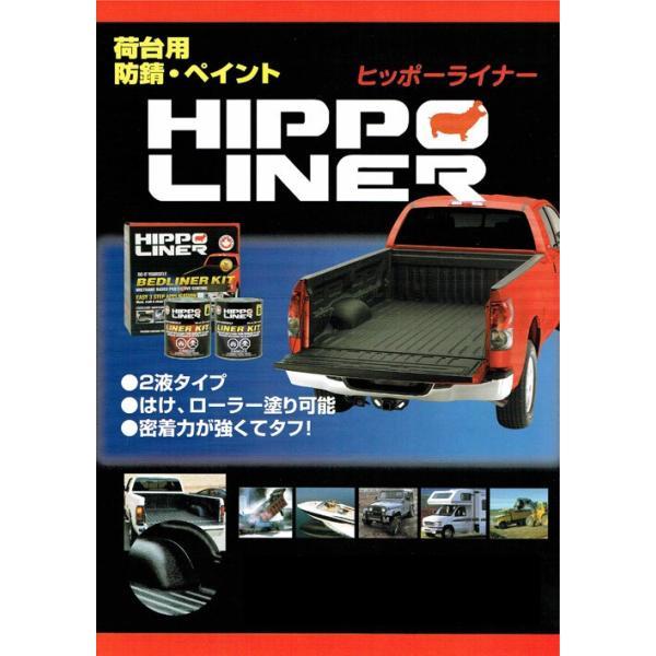 荷台用防錆 HIPPO LINER(ヒッポーライナー) 1.7Lセット (黒) 塗料 p-recipe 02