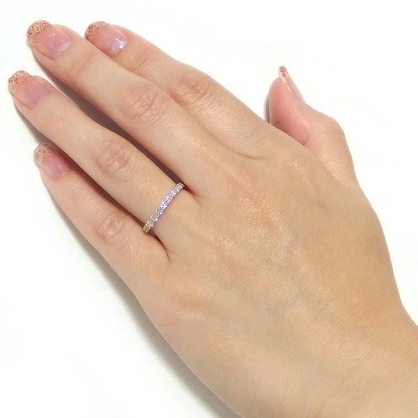 ダイヤモンド リング ハーフエタニティ 0.5ct K18 イエローゴールド 9号 0.5カラット エタニティリング 指輪 鑑別カード付き