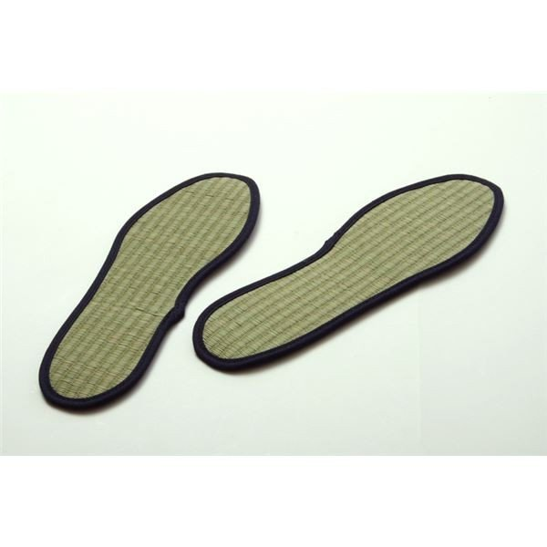 消臭&抗菌 インソール/中敷き 〔約23cm〕 ネイビー 日本製 ムレ防止 クッション性 『い草インソール』 〔靴〕