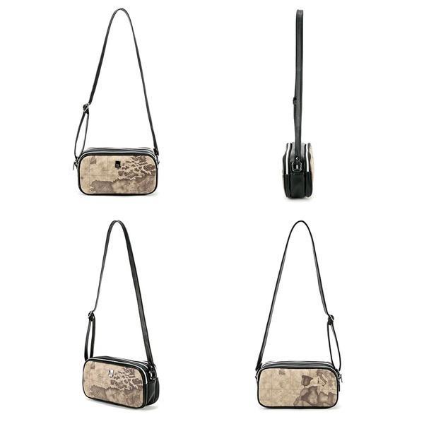 PRIMA CLASSE(プリマクラッセ)PSH8-9116 3つの仕切ポケットショルダーバッグ (グレイ)