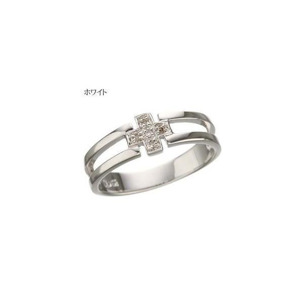 ダイヤリング 指輪 クロスリング ホワイト B0825 13号